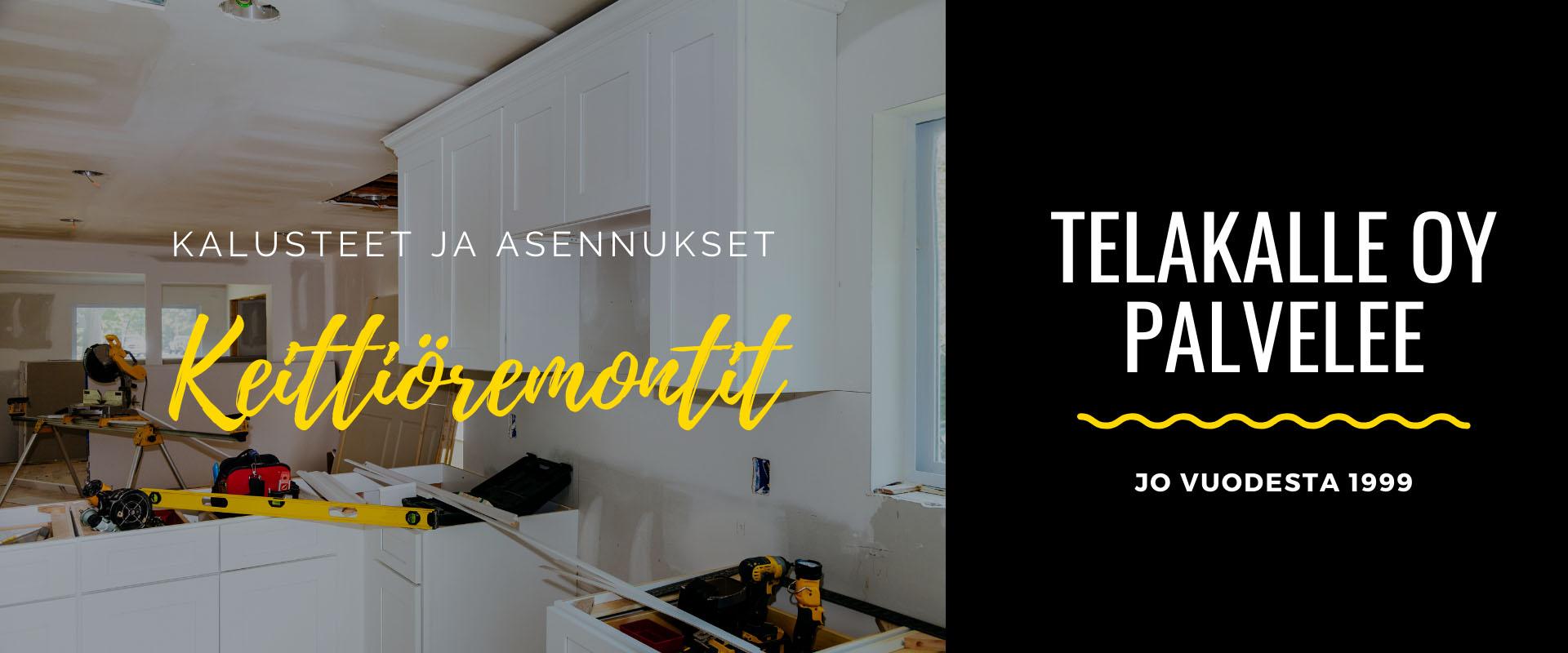 Keittiöremontit ja kalusteasennukset Tampereella • TelaKalle Oy
