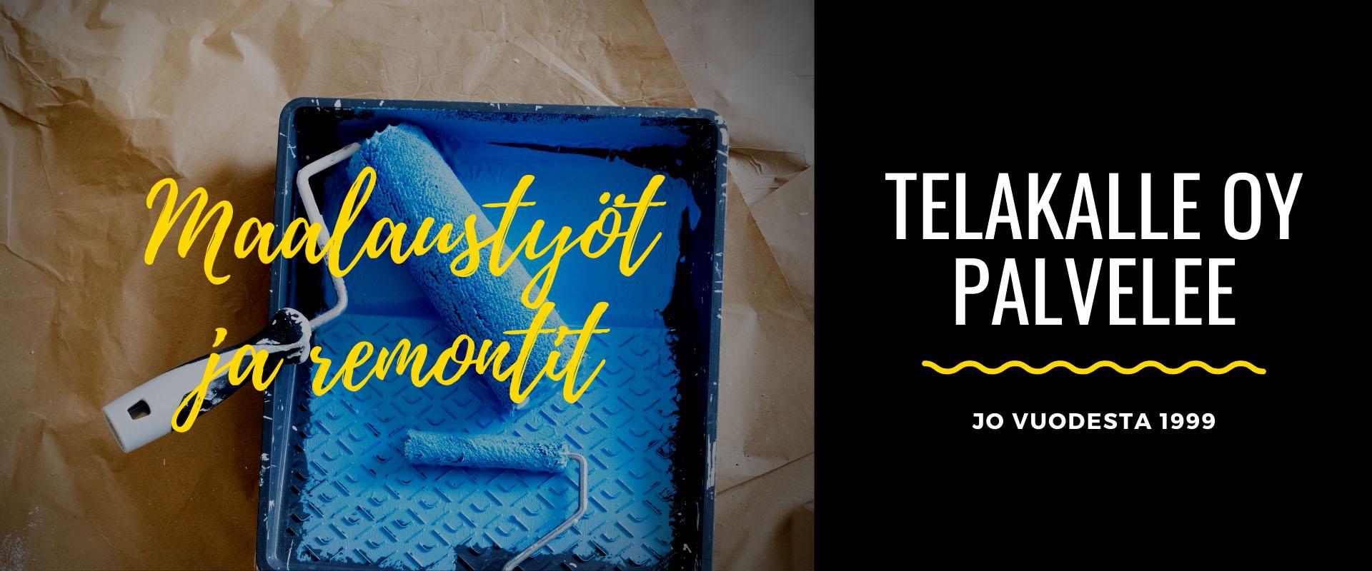 Maalaustyöt ja tapetointiremontit Tampereella • TelaKalle Oy